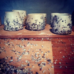Cups Pressed in Crushed Granite