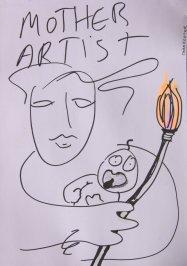 Artist mama drawing