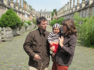 Ginny and family in Wells, England