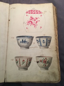 pages from Leeds pottery manuscripts